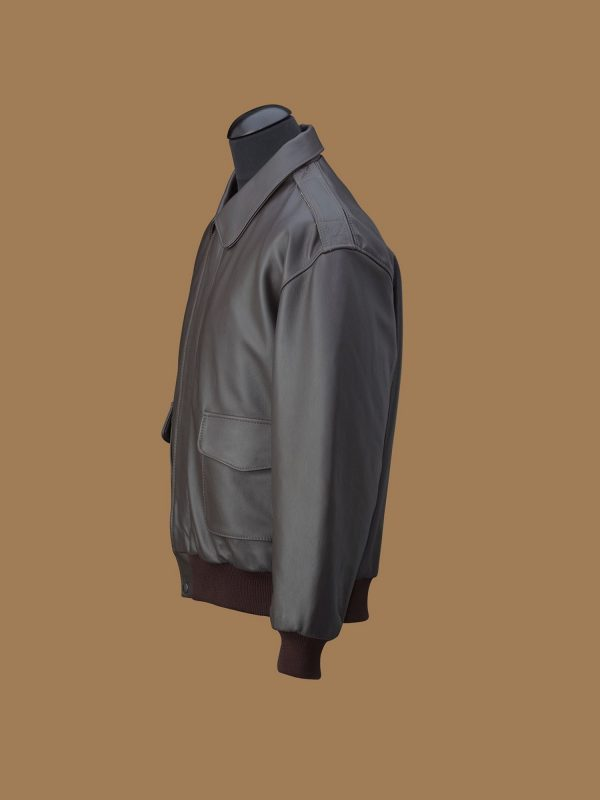 men dark brown jacket