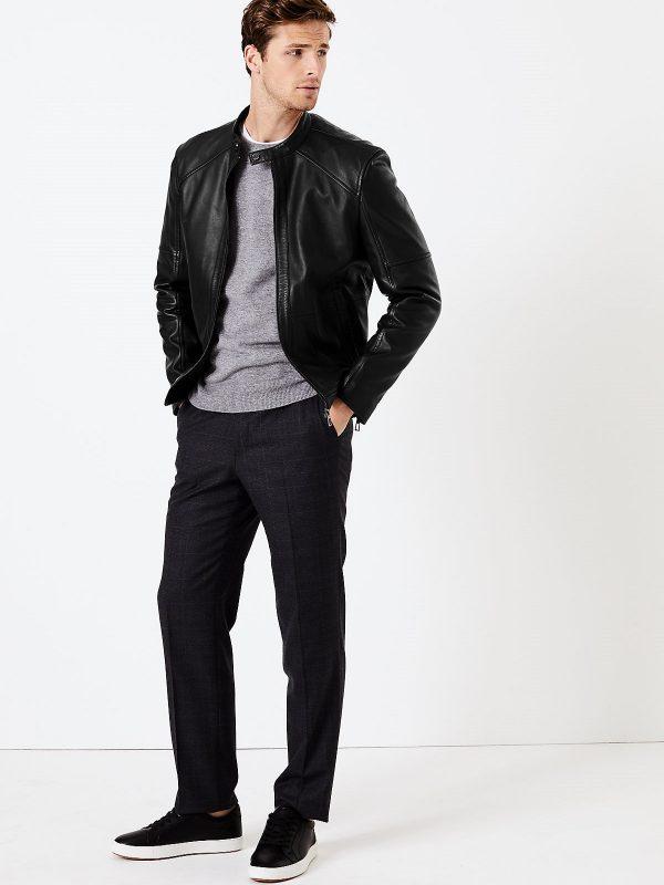 men biker leather jacket