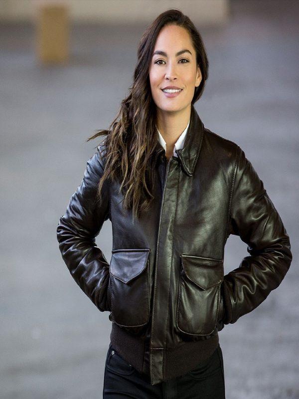 women brown jacket