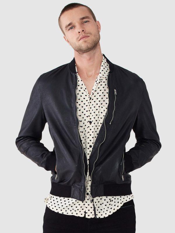 men leather varisty