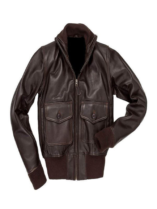 women a2 brown leather jacket