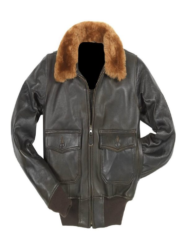 women g1 brown leather jacket