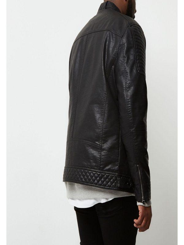 men black racer jacket