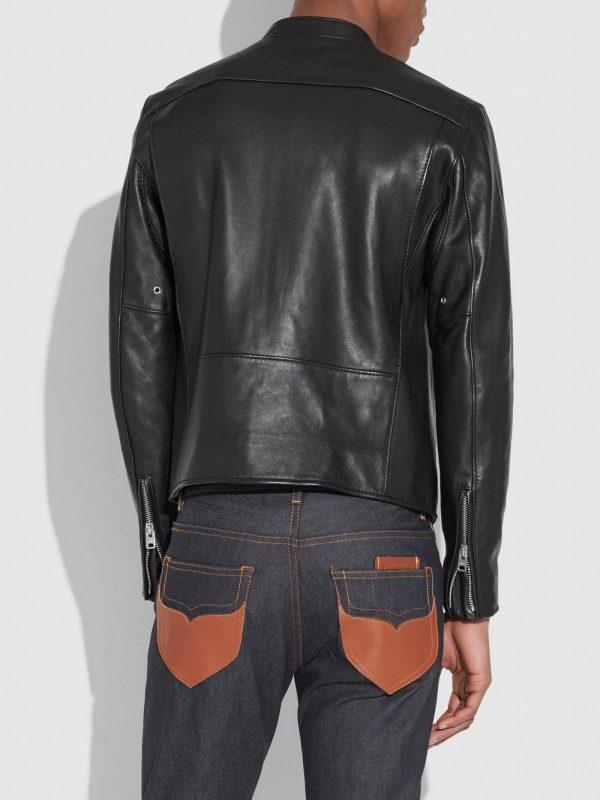 men black cafe racer leather jacket