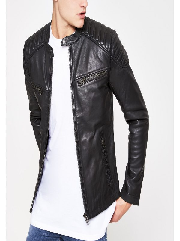 stylish men black jacket