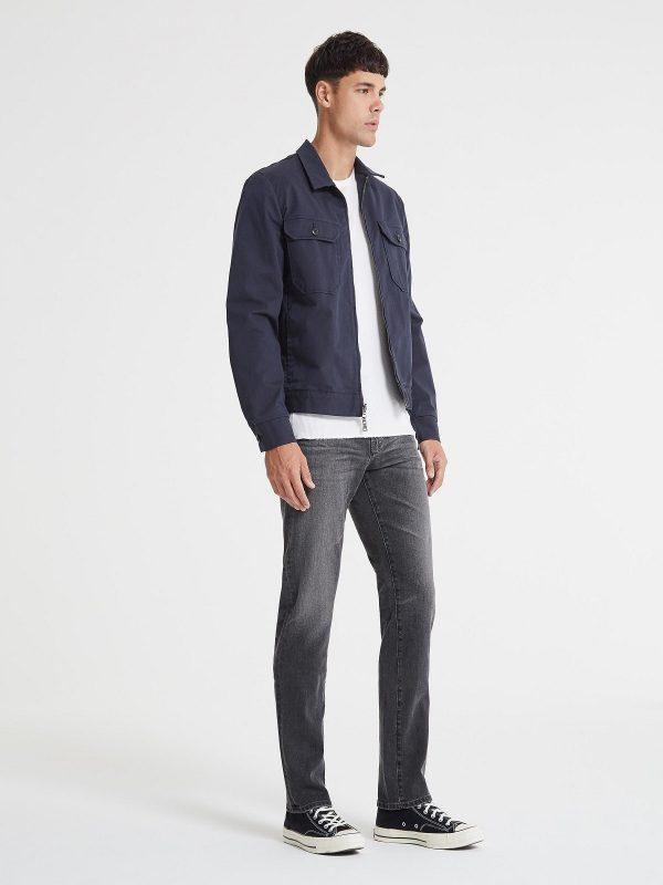 men dark blue jacket