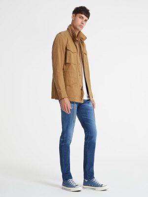 men light brown cotton jacket