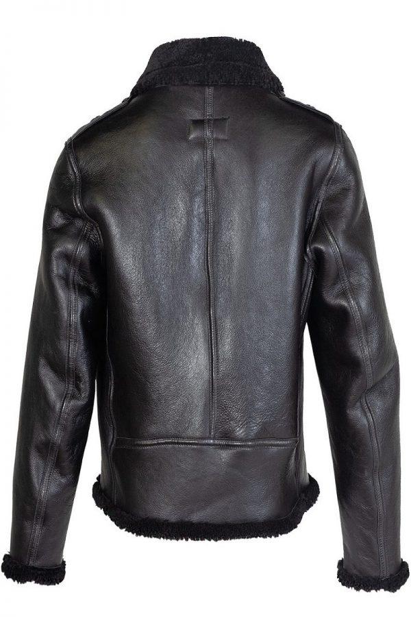 men shearling biker jacket