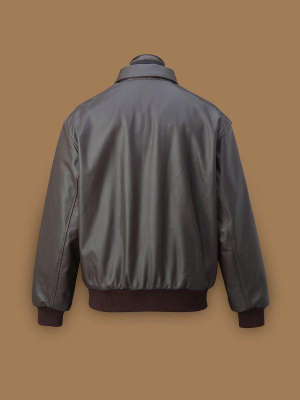 men dark brown a2 jacket