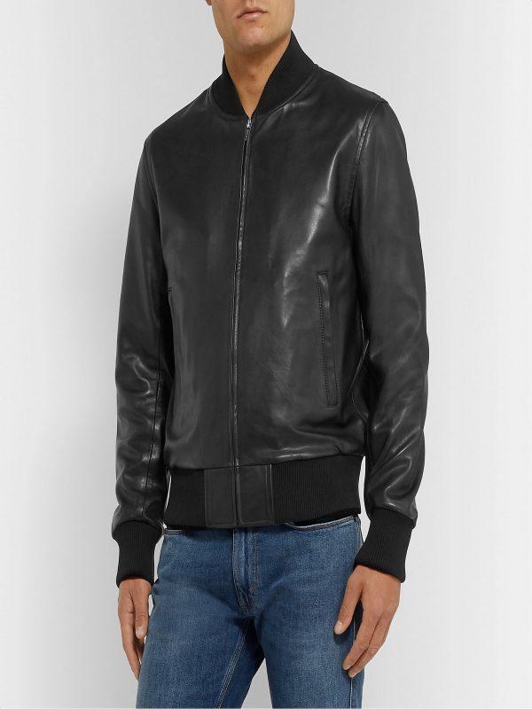 men black bomber varsity jacket