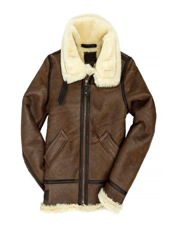 women brown leather jacket