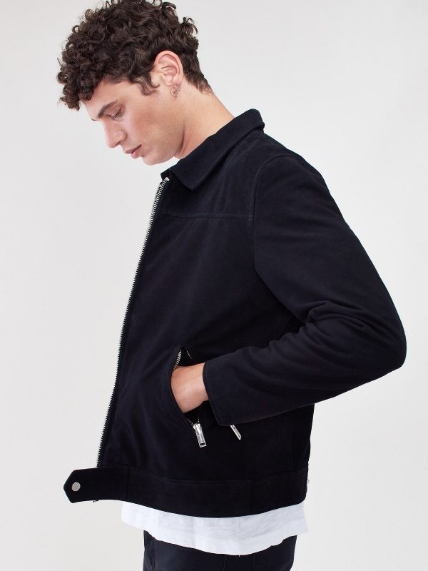 men black suede jacket