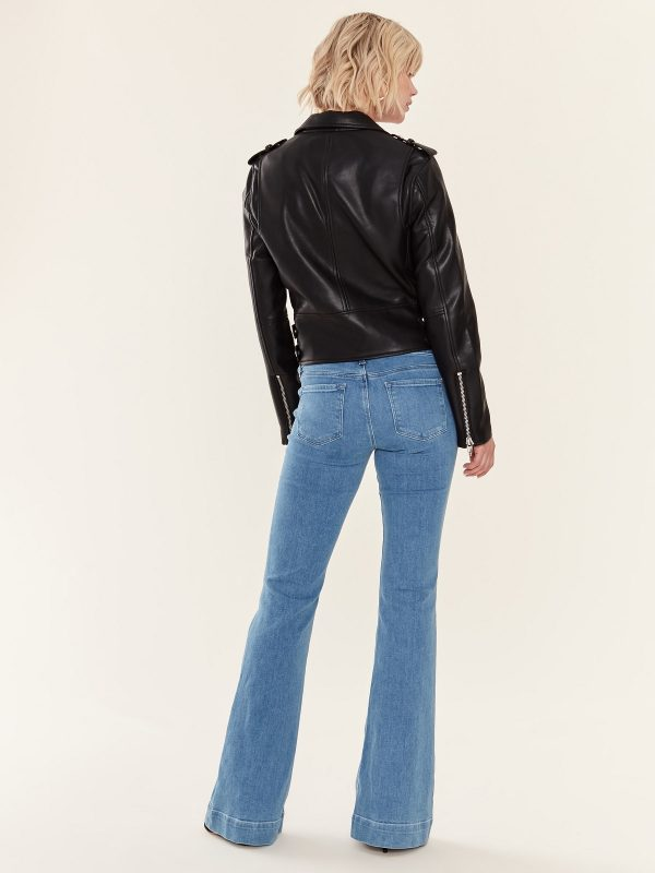 stylish black biker jacket