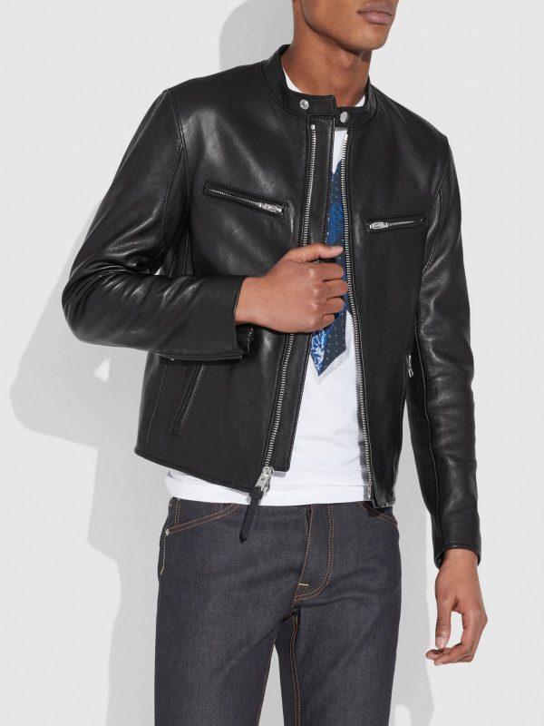 men trending black jacket