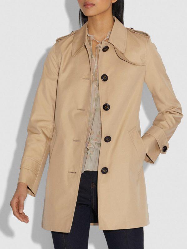 trending brown cotton coat