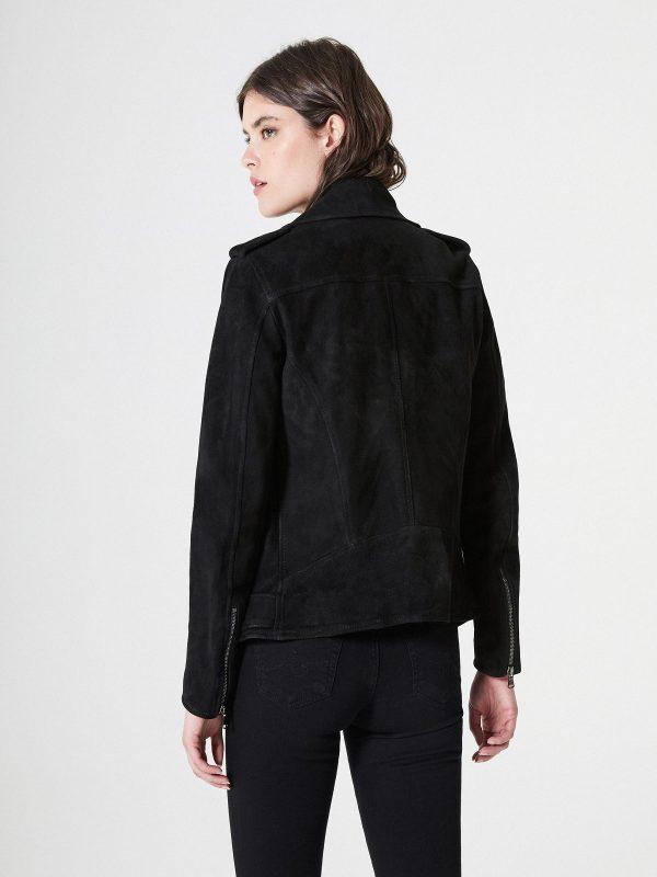 women black suede jacket