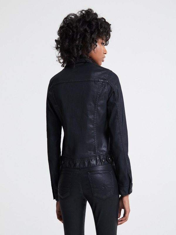 women shirt leather jacket