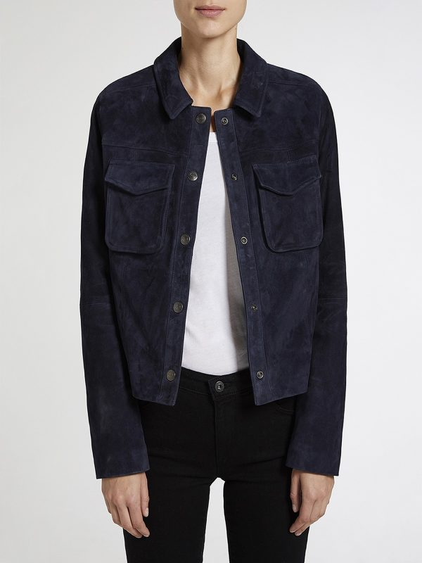 stylish blue cotton jacket
