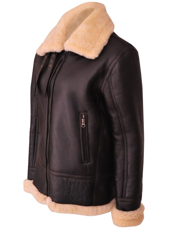men brown b3 shearling jacket