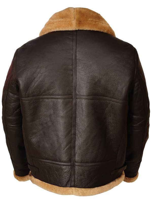 men brown b3 aviator leather jacket