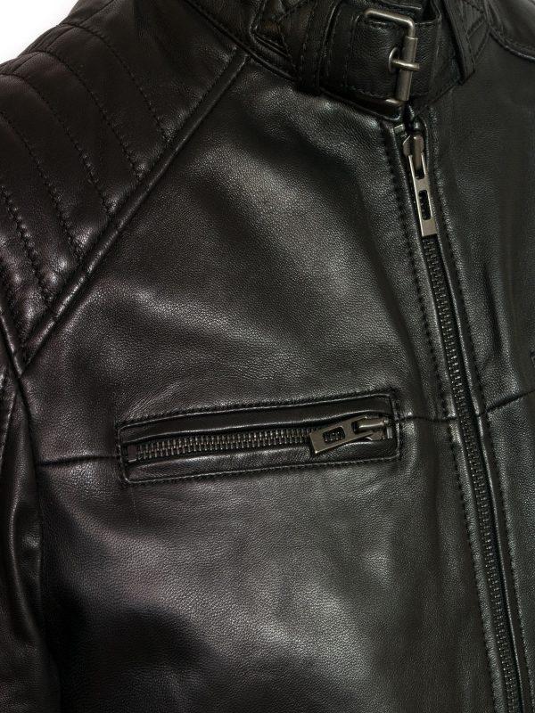 men trendy black jacket