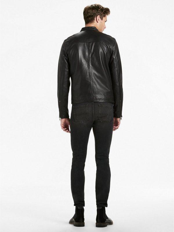 men stylish black jacket