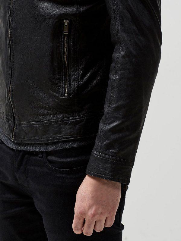 trending men black biker jacket