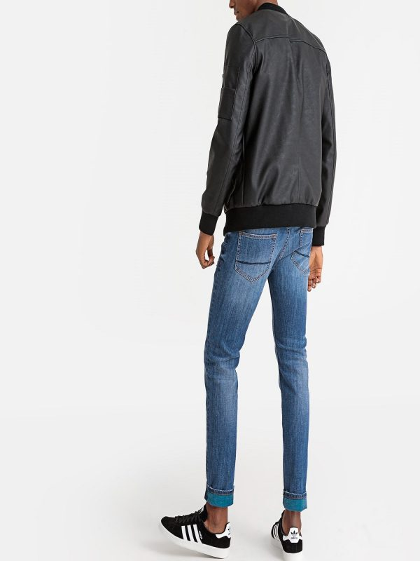 trending men rib knitted jacket