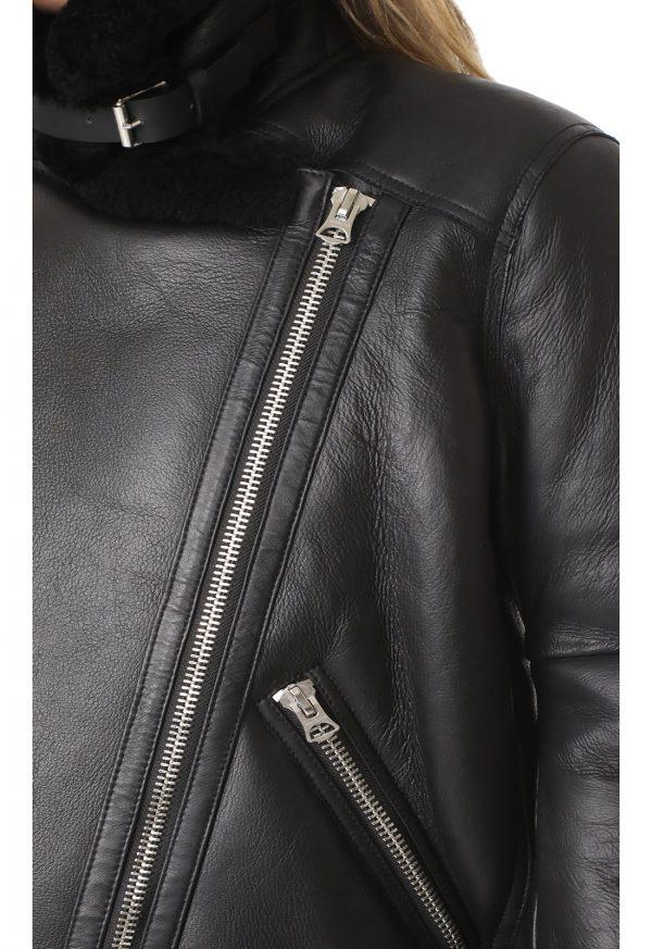 women black b3 shearling leather jacket