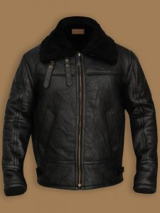 men black b3 bomber shearling jacket