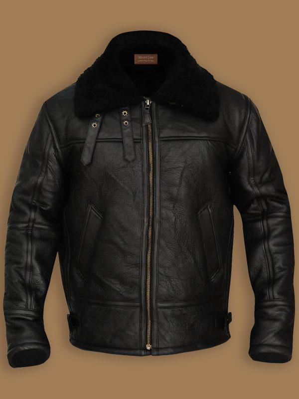 men black b3 bomber shearling jacket