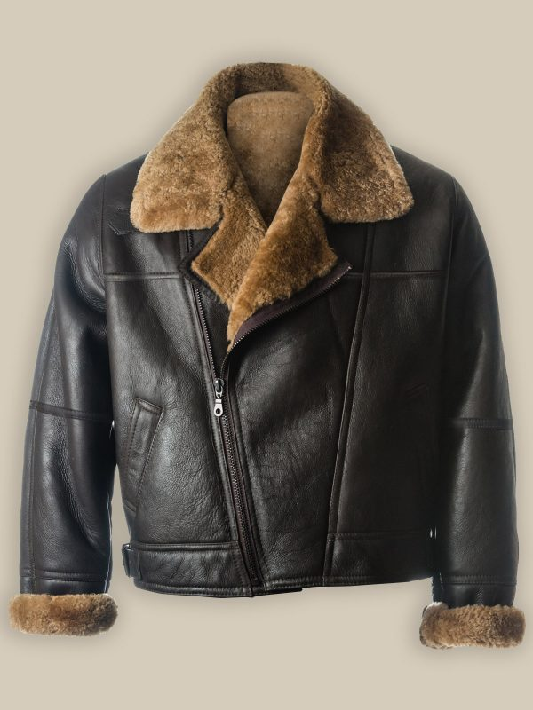 men black b3 sheepskin jacket