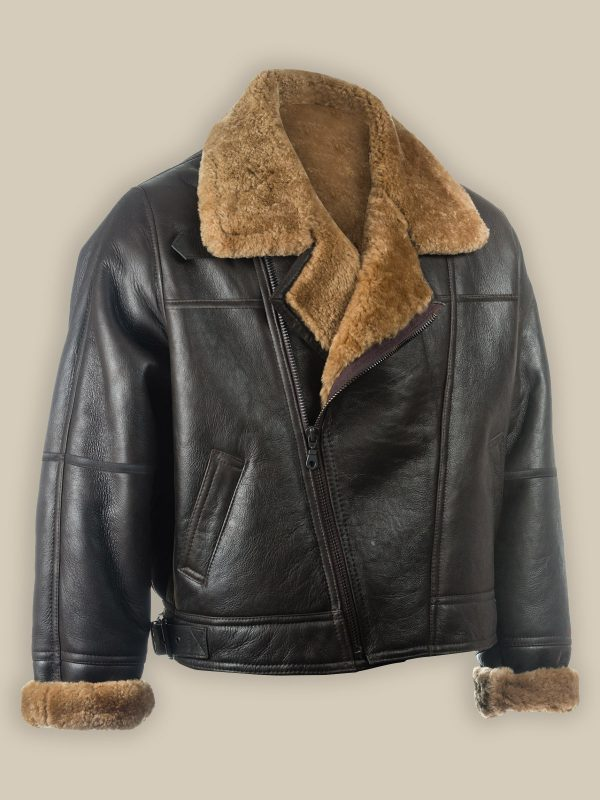 trending men shearling jacket