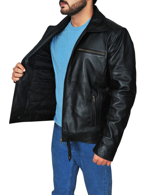 real leather black jacket, black leather jacket for guys,