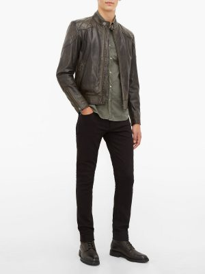 men brown jacket