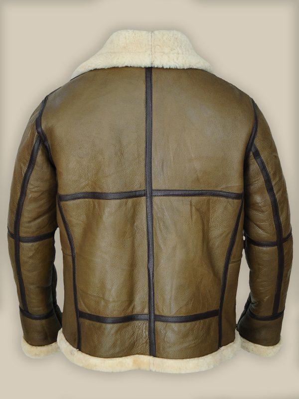 stylish men shearling leather jacket