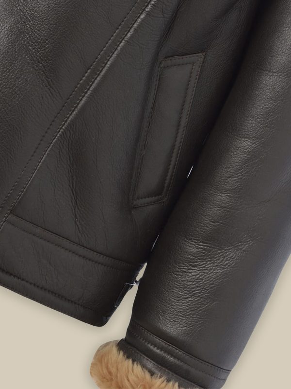 men b3 pilot shearling leather jacket