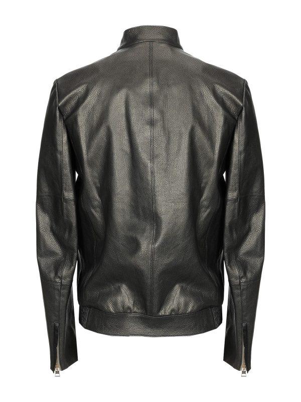men black pure leather jacket
