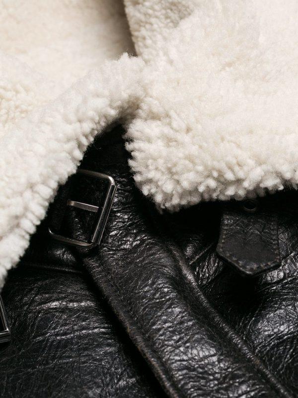 trendy shearling leather jacket