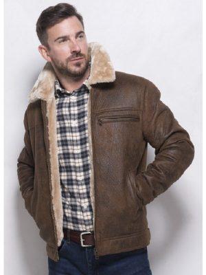 men brown trendy jacket