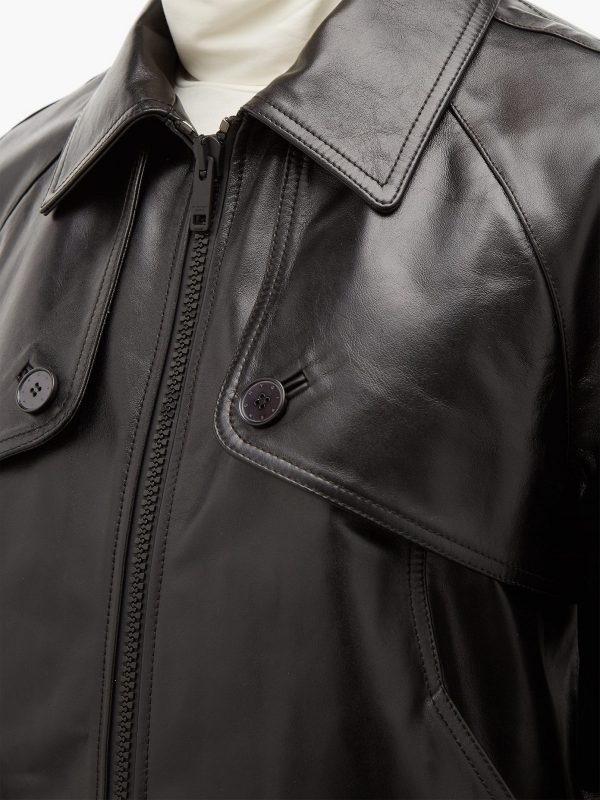 men classoc leather jacket