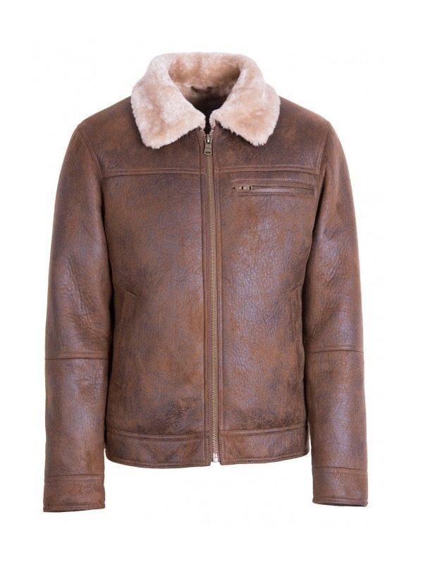 men sheepskin leather jacket