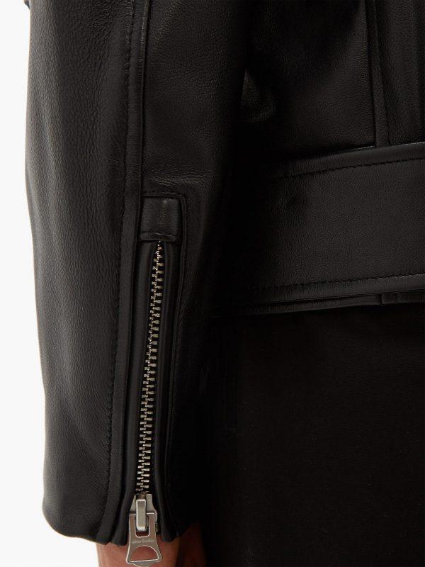 trendy biker leather jacket