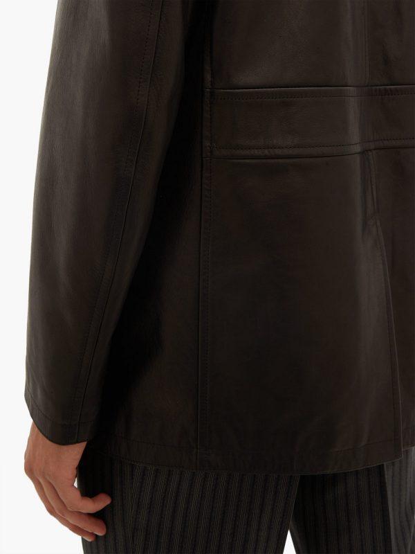 trending brown leather jacket