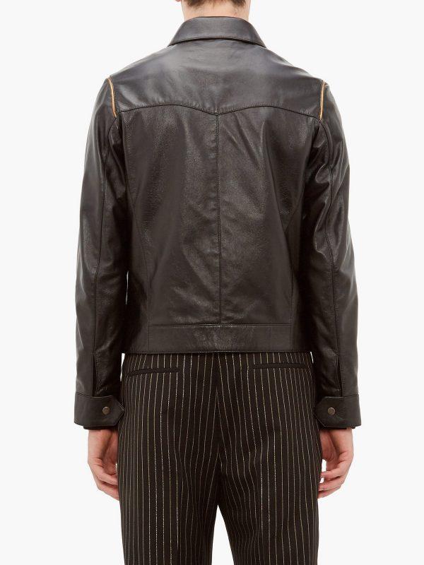 traditional biker leather jacket