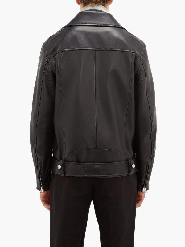 fashionable men biker leather jacket