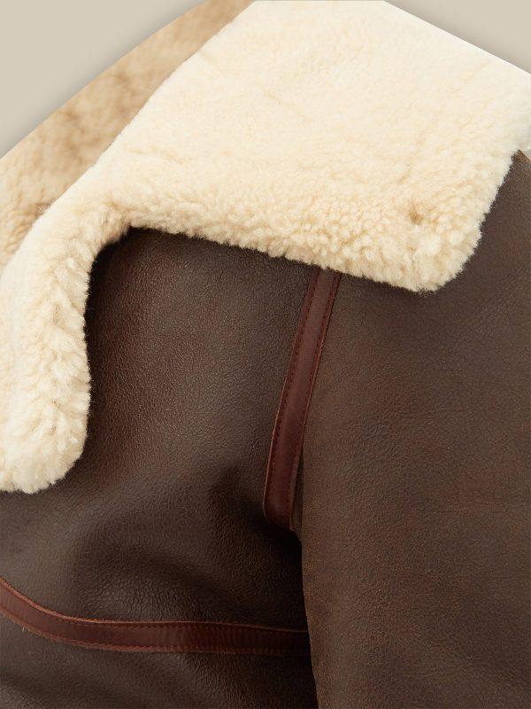 trending brown shearling jacket