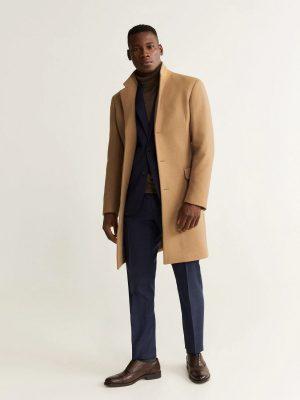 men trendy wool trench