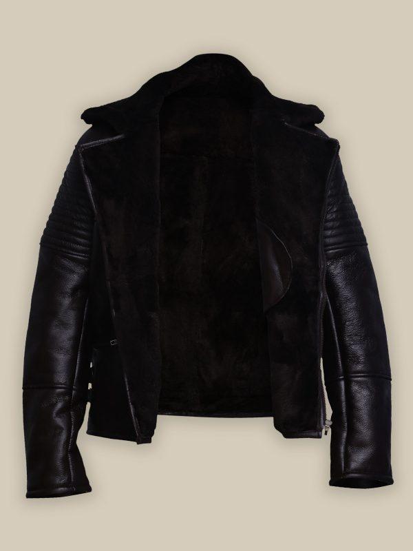 men biker shearling jacket