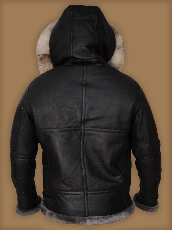 men fashionable shearling leather jacket